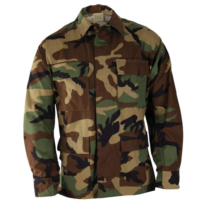 Basic Issue Military Camouflage BDU Top - Great Value
