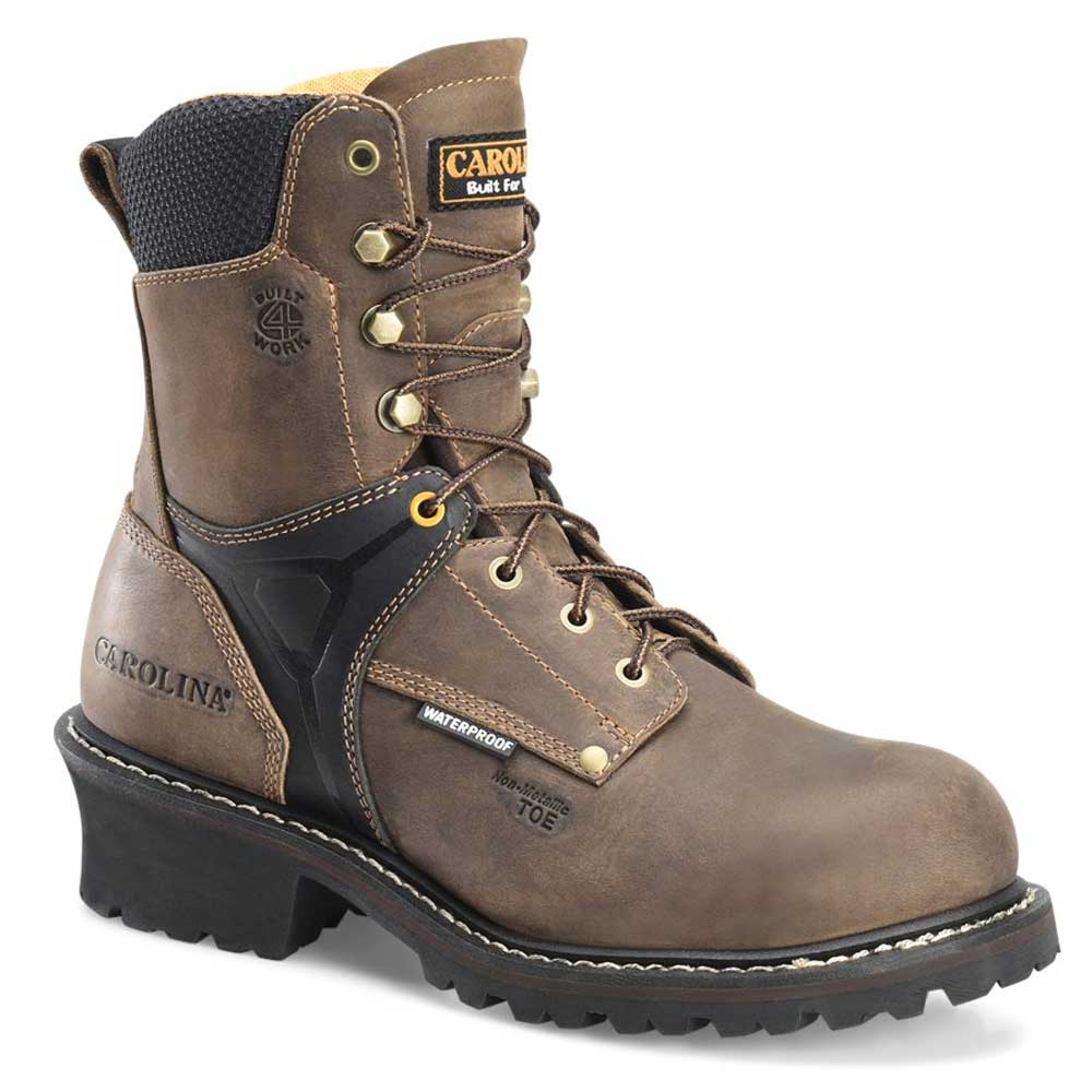 Carolina Timber 8 Inch Brown Waterproof Ct Logger Boot