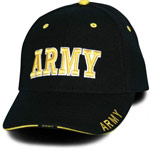 Black Army Baseball Cap