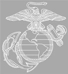 Marines Eagle Globe and Anchor Large Window Decal
