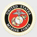Round Marine Corps Globe and Anchor Sticker