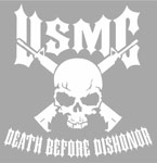 Marines Death Before Dishonor Large Decal