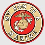 My Son Is A Marine Sticker