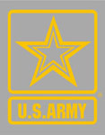 U.S. Army Star Logo Large Window Decal