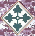 4th Infantry Division Digital Camo Decal
