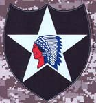2nd Infantry Division Digital Camo Decal