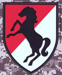 11th Armored Cavalry Division Digital Camo Decal