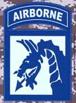 18th Airborne Division Digital Camo Decal