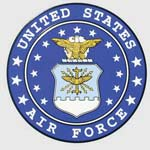 Classic Air Force Logo Sticker