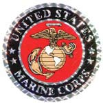 Marine Corps Small Foil Sticker