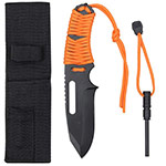 Basic Issue Orange Paracord Survival Knife with Fire starter