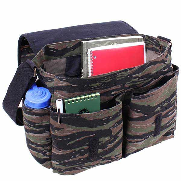 Tiger Stripe Camouflage Canvas Shoulder Bag