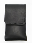 Black Leather iPhone and Blackberry Cell Phone Case
