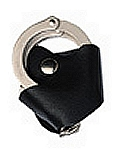 Quick Release Basketweave Leather Handcuff Holder