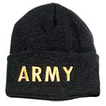 Army Embroidered Black Watch Cap