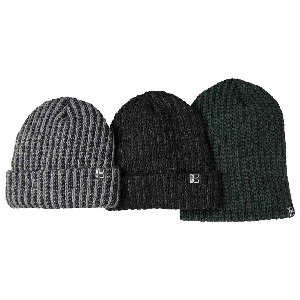 Knitting Pattern For Mohair Beanie : Vertical Stitch Mohair-Acrylic Knit Winter Hat
