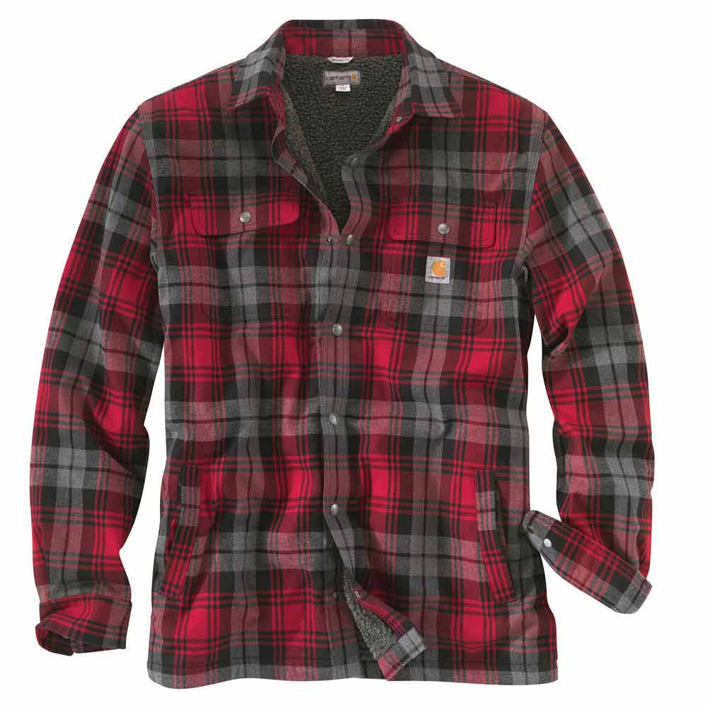 Sherpa Lined Flannel Shirt Jacket   Outdoor Jacket