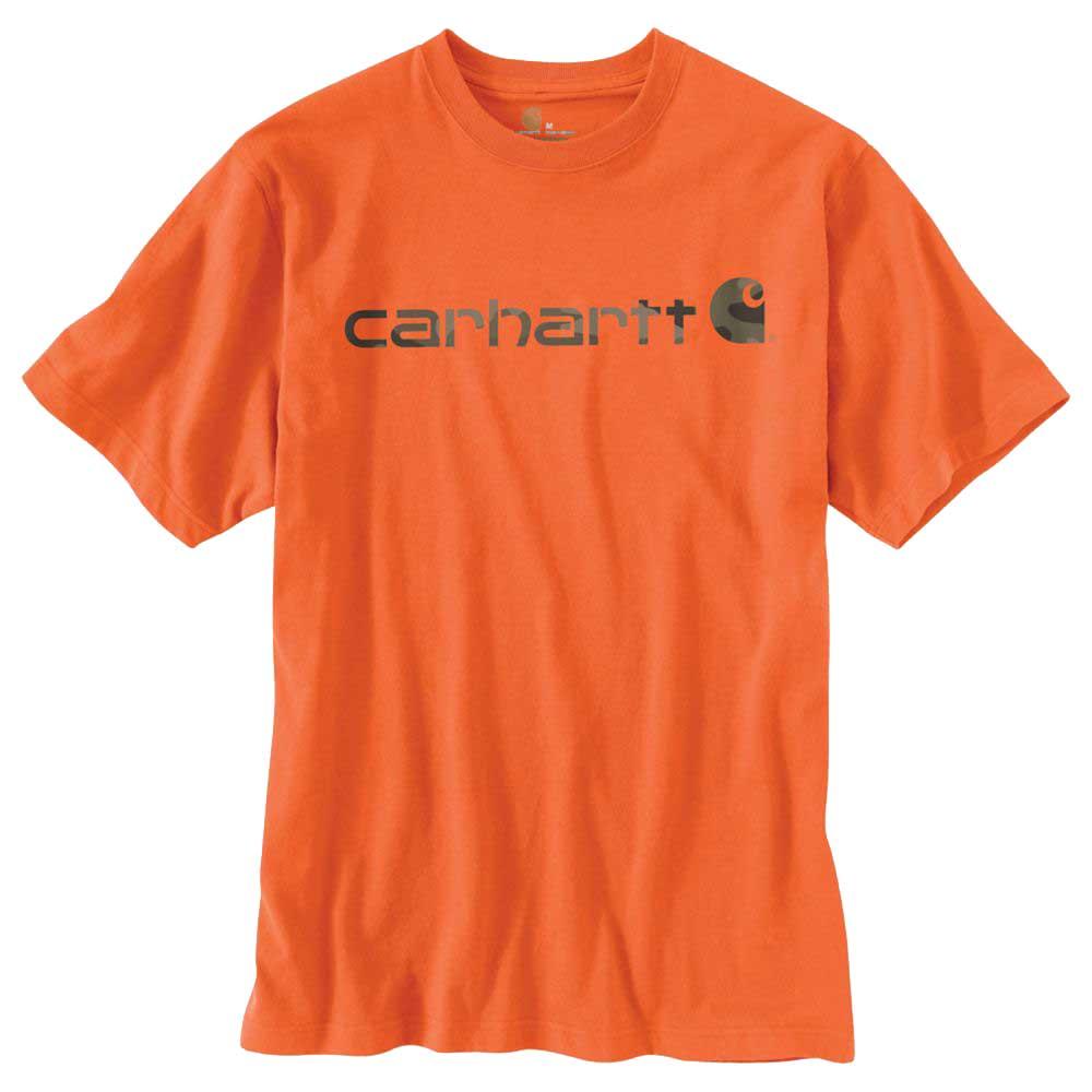 carhartt signature logo short sleeve t shirt k195. Black Bedroom Furniture Sets. Home Design Ideas