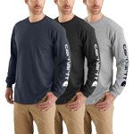 Carhartt Signature Logo Long Sleeve T-Shirt - Black