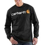 Carhartt Logo Long Sleeve Graphic T-Shirt - K298