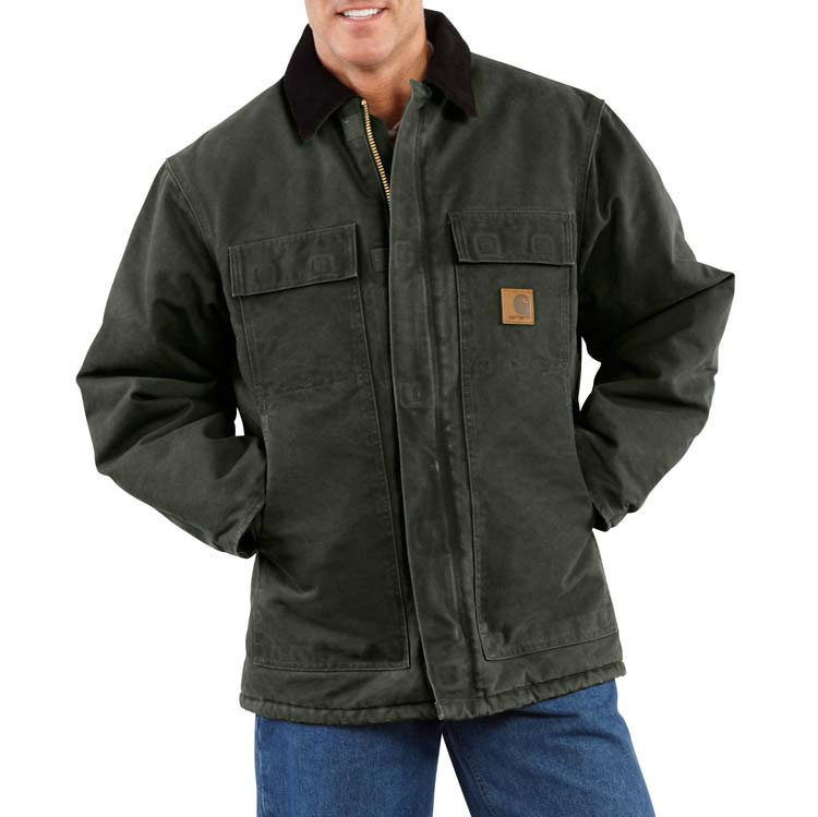Carhartt Men S Sandstone Traditional Coat Arctic Quilt