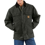 Carhartt Men's Sandstone Traditional Coat - Arctic Quilt-Lined