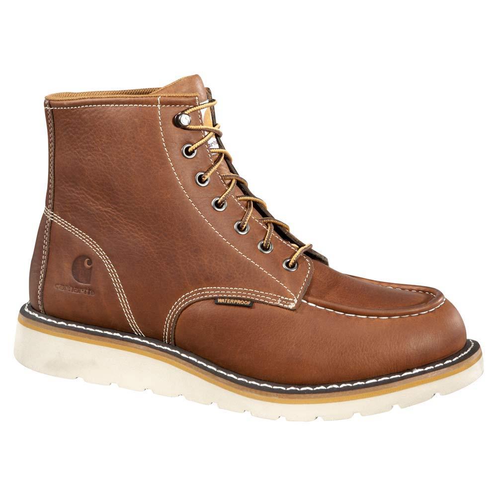 carhartt 6 inch moc toe wedge sole wp work boot