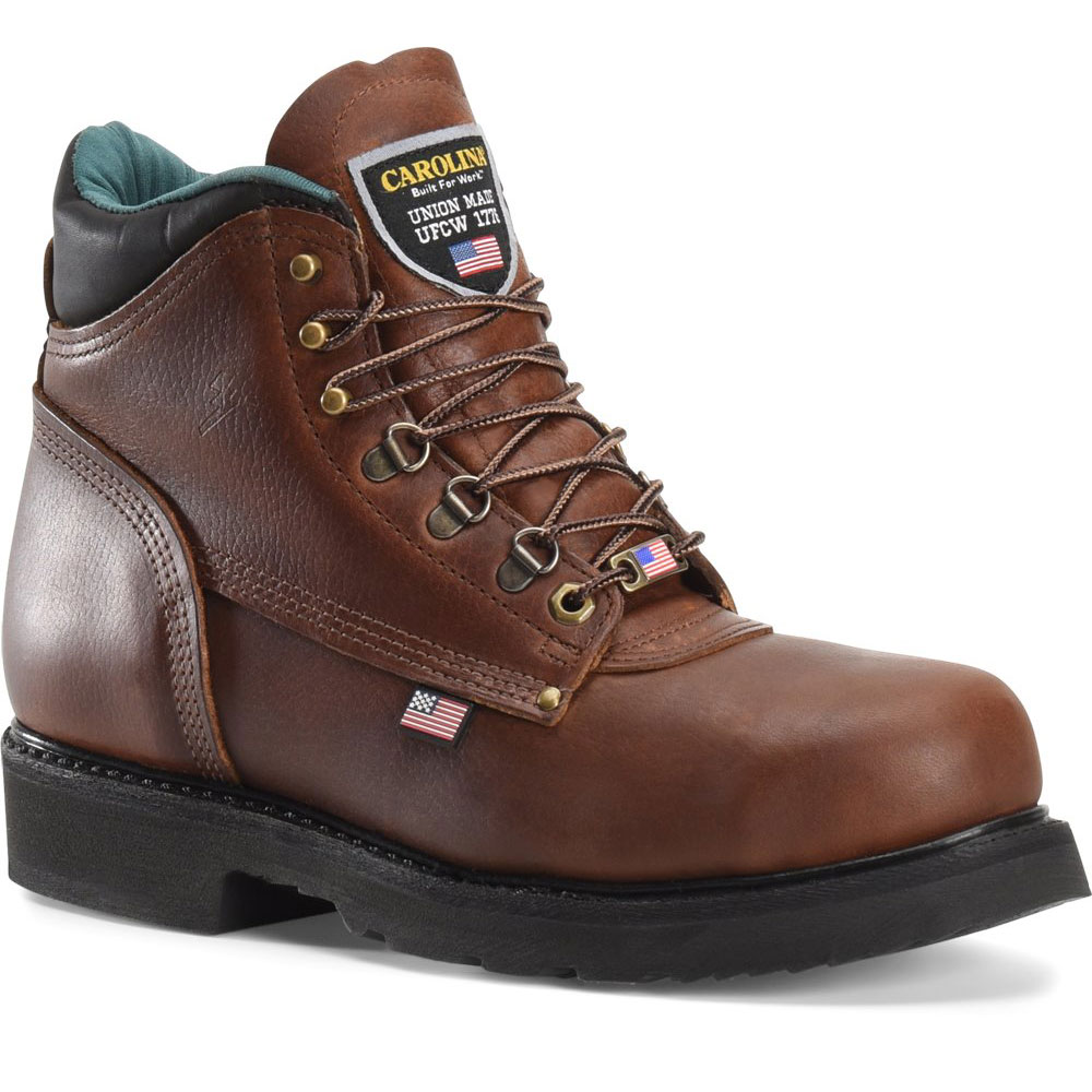 carolina 1309 grizzly 6 inch steel toe work boot made