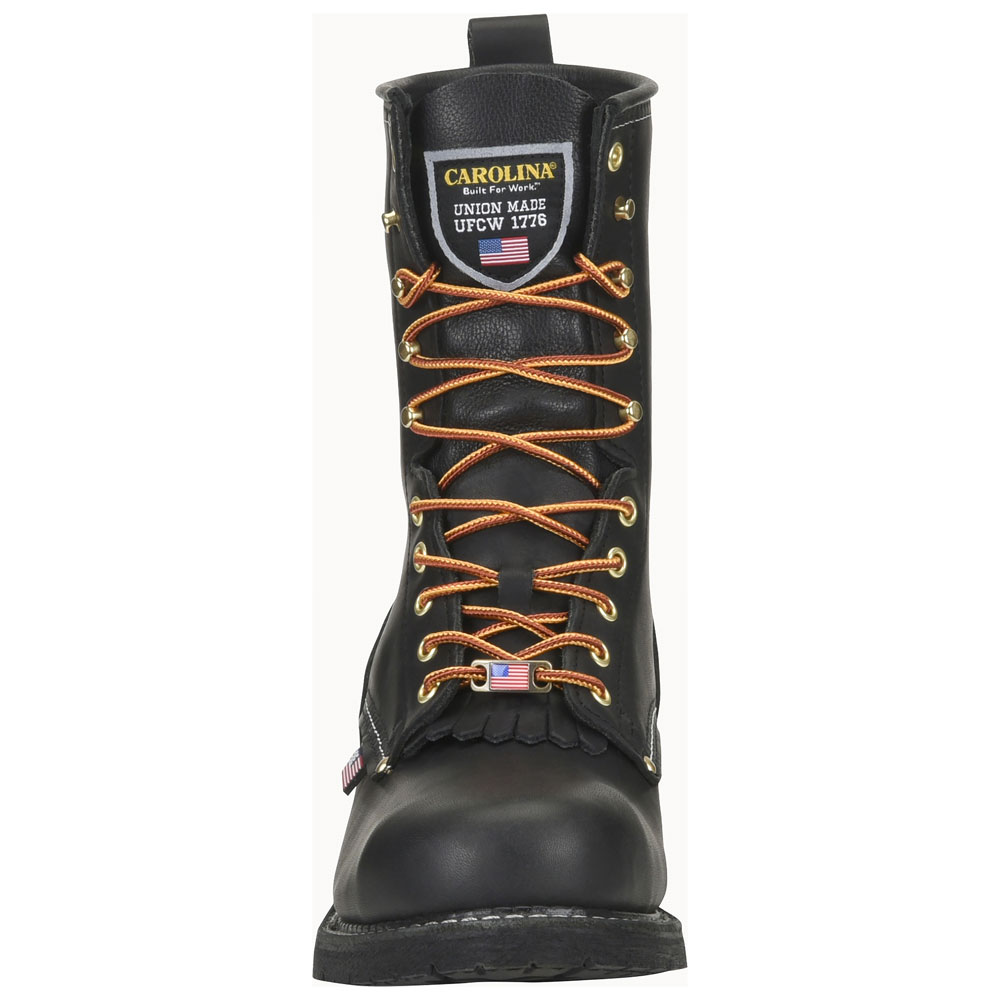 Carolina 1922 Black 9 Inch Steel Toe Logger Boot Made