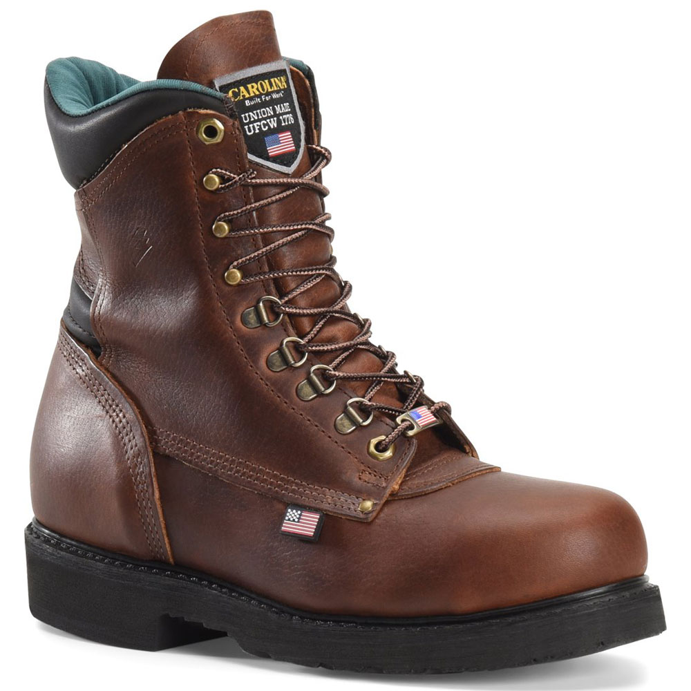 carolina 809 american grizzly 8 inch work boot made in