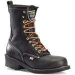 Carolina 922: Black 9-inch Logger Boot - Made in the USA