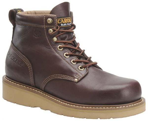 carolina ca3049 brown wedge sole work boots