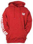 Caterpillar Banner Hoodie - Chili Red