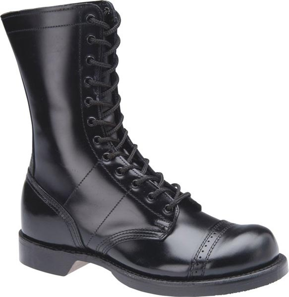 corcoran 1500 black leather combat boot s 10 inch