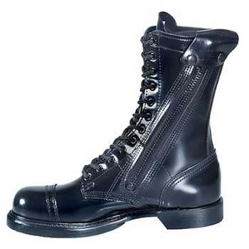 Corcoran 995 10 Inch Black Side Zip Black Leather Military