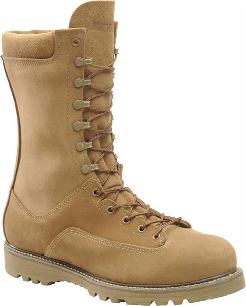 Military Tactical Desert Tan Boots with Composite Toe or Plain Toe