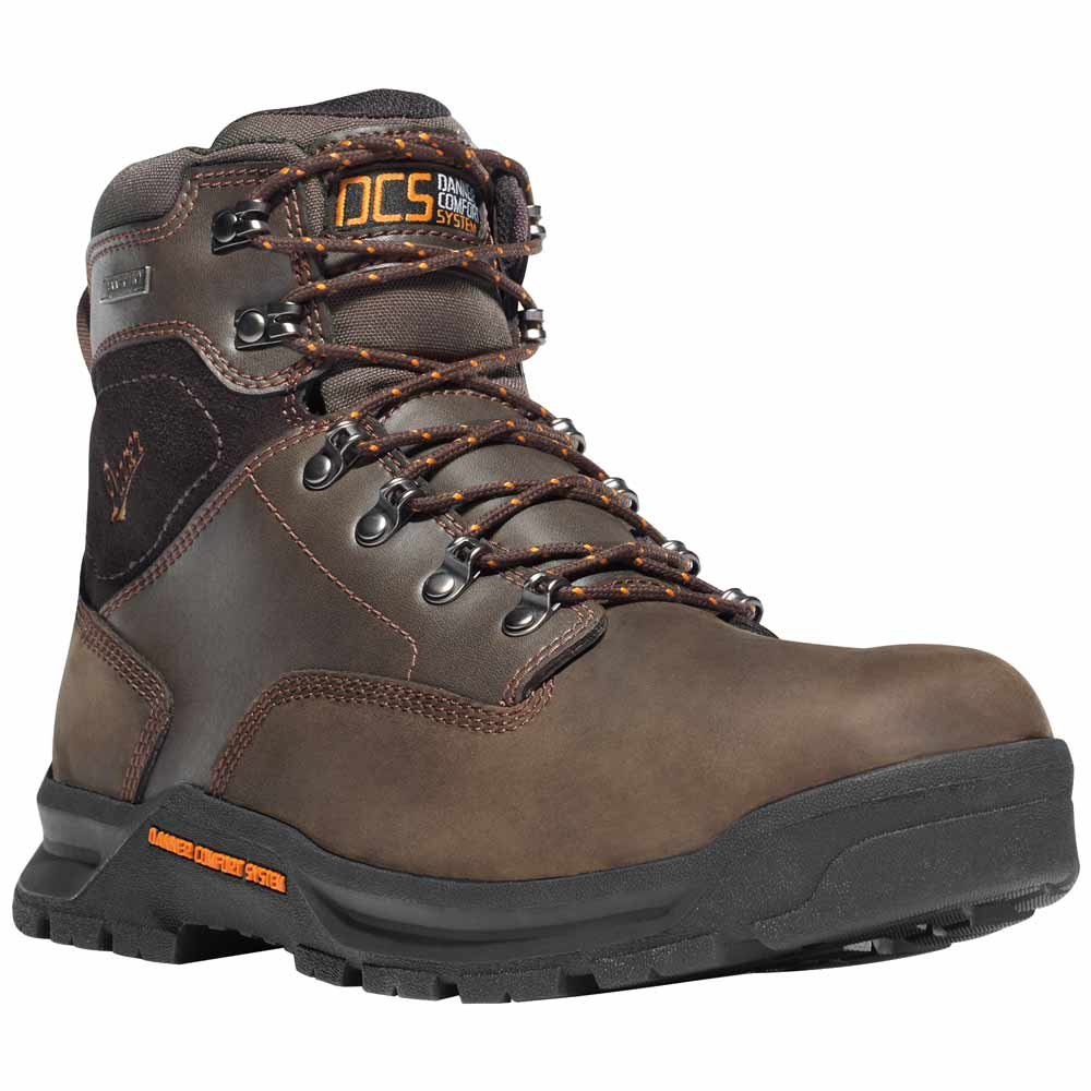 Danner Crafter 6 In Brown Safety Toe Waterproof Work Boot