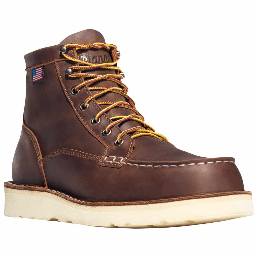 Danner Bull Run Moc Toe 6-in Brown Work Boot - 15563