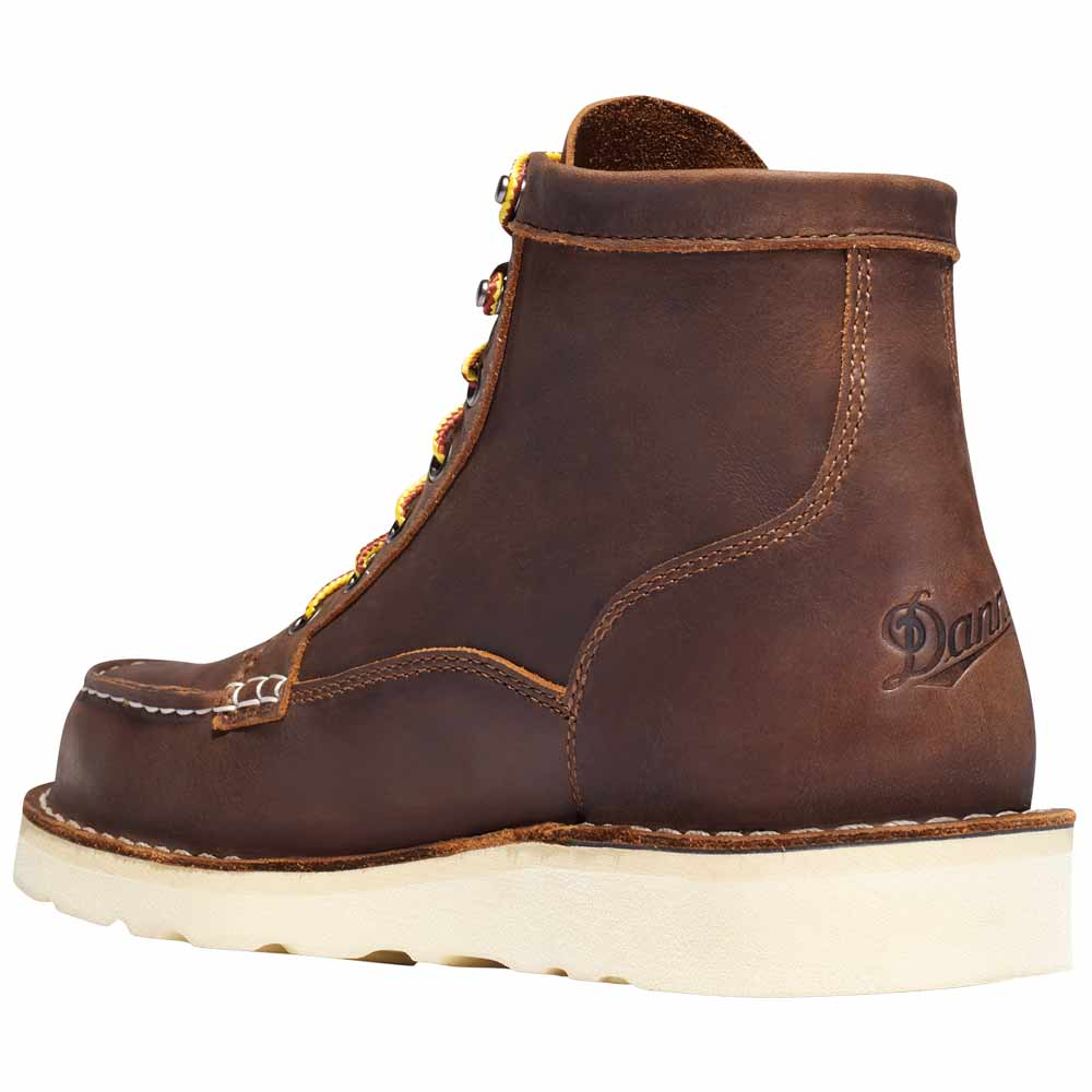 Danner Bull Run Moc Toe 6-in Brown Steel Toe Work Boot - 15564