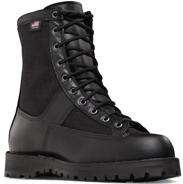 Danner Acadia 8 Inch Mens Black Uniform Steel Toe Boot
