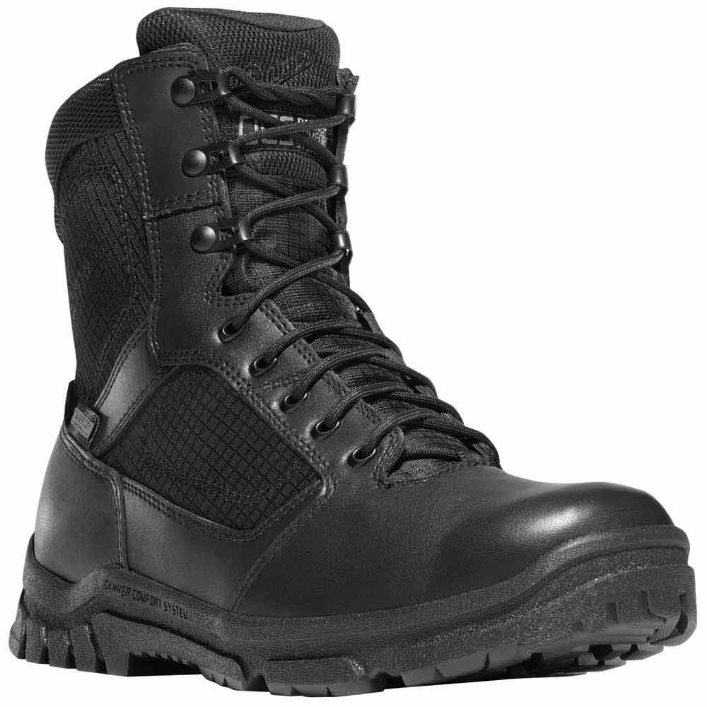 Danner Lookout Side Zip 8 In Black Waterproof Duty Boot