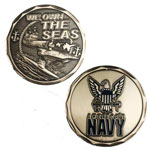 We Own the Seas US Navy Challenge Coin