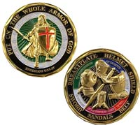 Ephesians 6:11 Put on the full armor of God Challenge Coin