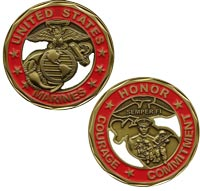 US Marines Honor-Courage-Commitment Challenge Coin