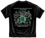 Brotherhood Above All Irish Firefighter T-shirt