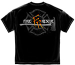 Monster Claws Fire Rescue Firefighters T-Shirt - Black