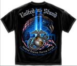 United We Stand 9-11 Commemorative Marine Corps T-shirt