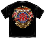 Badge of Honor 9-11 Firefighters T-Shirt - Black