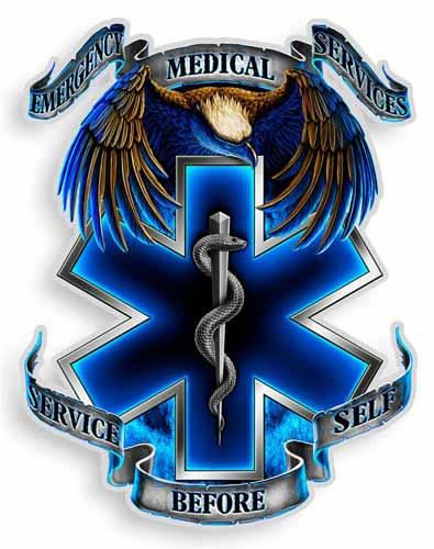 Blue Star Blade Reviews >> EMS Eagle Sticker | EMS Star of Life Decals
