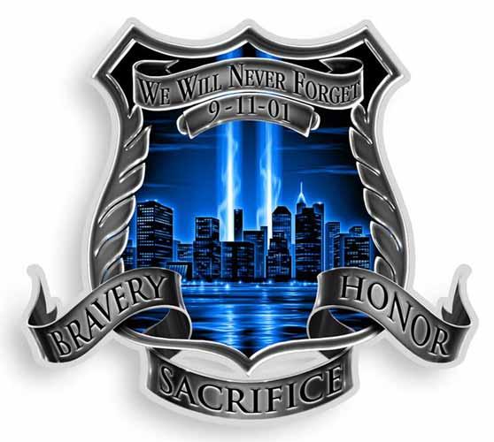 Bravery Honor Sacrifice 9 11 Memorial Sticker 9 11